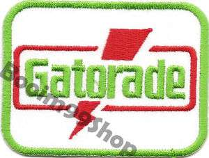 GATORADE Logo EMBROIDERED Iron Patch T Shirt Sew Cloth