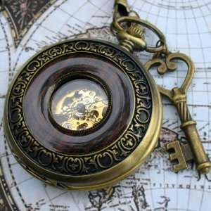 Steampunk pocket watch necklace pendant locket Everything