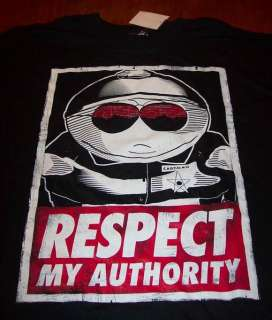SOUTH PARK CARTMAN RESPECT MY AUTHORITY T Shirt XL NEW w/ TAG