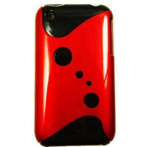 Cuffu   S Red 2Tone V2  Fashion Design Case Cover for Apple Iphone 3G
