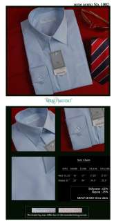 NWT MENS DRESS BUSINESS SHIRTS SOLID SKY BLUE 17 L