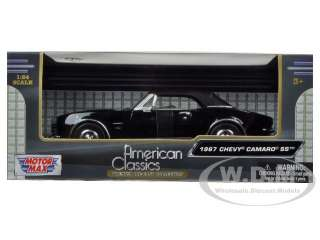 24 scale diecast model car of 1967 chevrolet camaro ss soft top black
