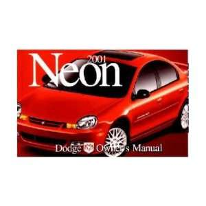 2001 DODGE CHRYSLER NEON Owners Manual User Guide