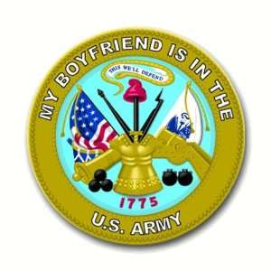 Army My Boyfriend is in the Army Seal Decal Sticker 3.8 6 pack
