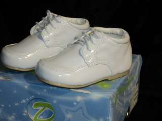 Boy White Leather Christening Baptism Shoes/Baby Size 6