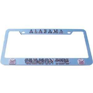 Alabama Crimson Tide License Plate Tag Frame   NCAA College Athletics