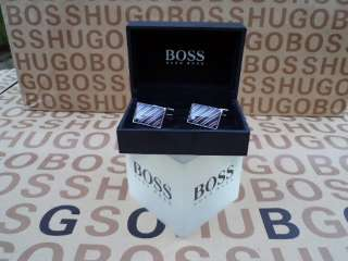 NEW HUGO BOSS BLACK LABEL DESIGNER BLUE RED MENS SHIRT SUIT CUFF LINKS