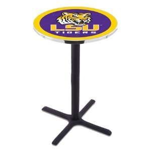 42 LSU Bar Height Pub Table   Cross Legs   NCAA