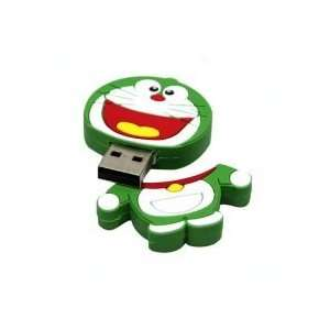 2GB Lovely Doraemon Cartoon USB Flash Drive Green