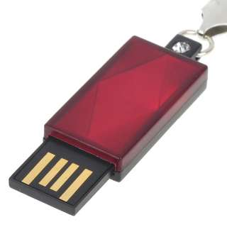 New 2GB Mini Diamond Style USB Flash/Jump Drive Red