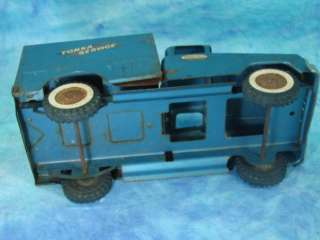 Vintage Die Cast Metal Tonka Blue Service Delivery Truck