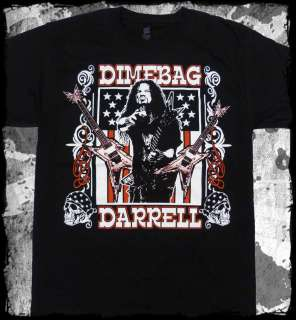 Dimebag Darrell   Guitar Flag pantera   official t shirt   FAST