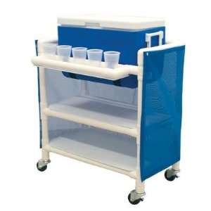 MJM International 810 2 Hydration Cart with 48 Quart Ice Chest Color