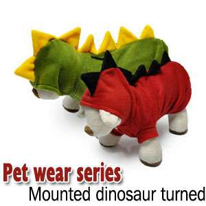 Cute Pet Dog Cat Fall Winter Fancy DINOSAUR Clothe Dress Costume XS S