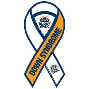 Buddy Walk Down Syndrome Awareness 2 in 1 Ribbon Magnet