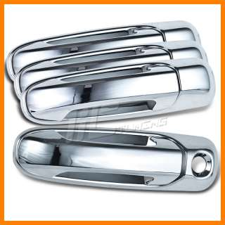 OUTSIDE FRONT+REAR CHROME EXTERIOR DOOR HANDLE COVERS