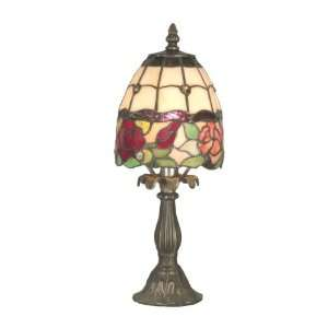 Dale Tiffany TA70711 Enid Table Lamp, Antique Brass and