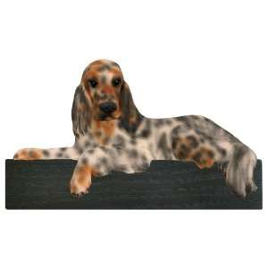 Tri Color English Setter Dog Shelf and Wall Plaque