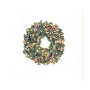 36 Pre Lit Frosted Hawthorne Artificial Christmas Wreath