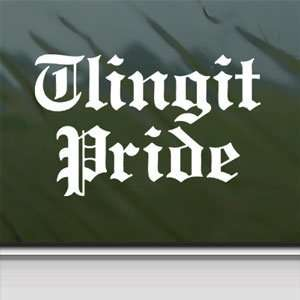 Tlingit Pride White Sticker Car Laptop Vinyl Window White Decal Arts