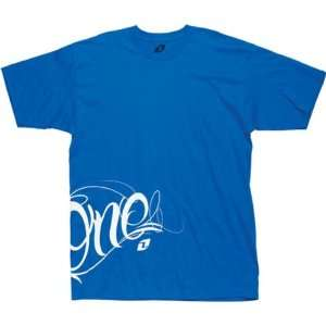 Short Sleeve Race Wear T Shirt/Tee   Bright Blue / Large Automotive