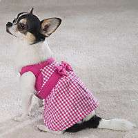 Dog Clothes Pink Gingham Dress size Medium pet supplies