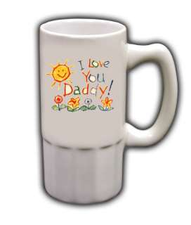 Personalized Custom Photo Fathers Day Beer Mug Gift