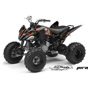 AMR Racing Yamaha Raptor 250 ATV Quad Graphic Kit   Pirates Black