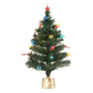 32 Fiber Optic Christmas Tree With Decorative Ornaments #1777 32