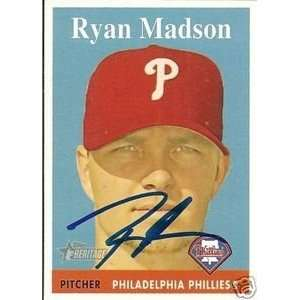 Ryan Madson Signed Phillies 2007 Topps Heritage card