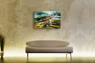 Large Modern Abstract Oil Painting On Canvas Handmade Genuine High