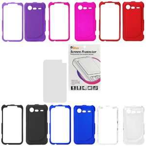 Blue / Hot Pink / Purple / Clear ) + Clear LCD Screen Protector Film