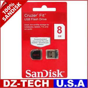 New Sandisk Cruzer Fit 8GB USB Flash Pen Drive SDCZ33 CZ33 Mini Memory