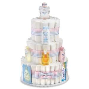 Peachtree Johnson & Johnson Themed Diaper Cake JJ3T Baby