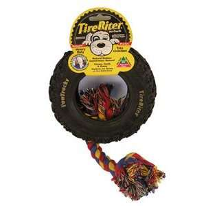 Small Pawtracks Tirebiter with Rope by Mammoth Pet Toys