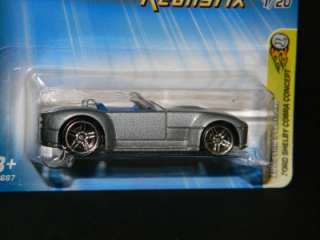 HOT WHEELS 1ST ED REALISTIX 1/20 FORD SHELBY COBRA CONCEPT GRAY MOC