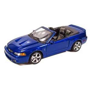 2003 Ford SVT Mustang Cobra Convertible 1/18 Blue Toys