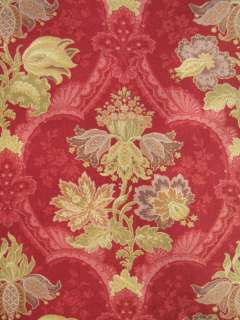 Antique French Art Nouveau bed cover c1890 floral red