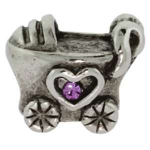 Baby Girl Baby Carriage Oriana Bead   Pandora Bead
