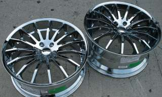 GIOVANNA MARTUNI 22 CHROME RIMS WHEELS SC400 STAG