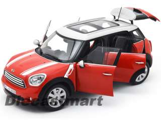NOREV 118 BMW 2010 MINI COOPER NEW DIECAST MODEL CAR RED WITH WHITE