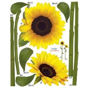 Easy Instant Decoration Wall Sticker Decal   Sunflower