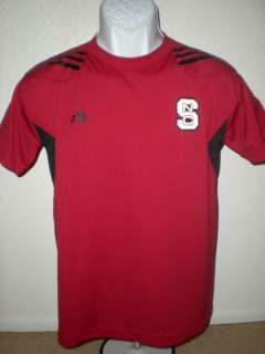 NEW CUT NCSU Wolf Pack YOUTH Medium Adidas Shirt YWF