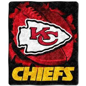 Kansas City Chiefs NFL Sherpa Throw (Big Burst Series) (50x60
