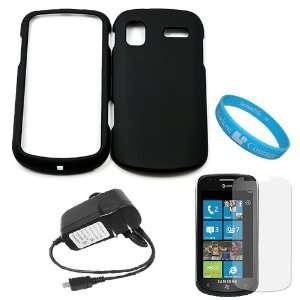 Rubberized Crystal Hard Case Cover for Samsung Focus Windows Mobile