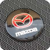 2920bkrdb1f1 mazda 56mm 5.6cm black red center wheel hub cap aluminium
