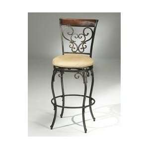Knightsbridge Swivel Counter Stool with Wood/Metal Back   Hillsdale