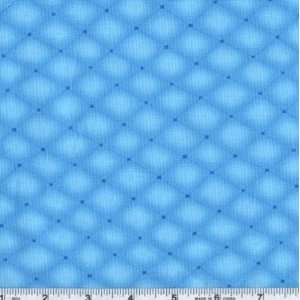 45 Wide Special Occasions Baby Dotted Lines Blue Fabric