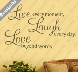 S45*70BIG LIVE LAUGH LOVE WALL STICKER ART DECAL DECOR QUOTE SAYING