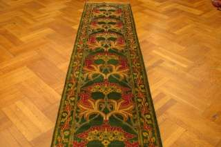 34 LOOONG NEW HANDMADE WILLIAM MORRIS RUNNER    GREEN